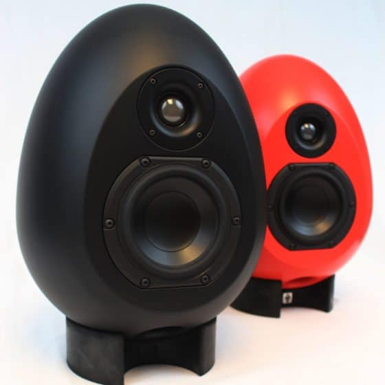 Egg Speakers On Stands